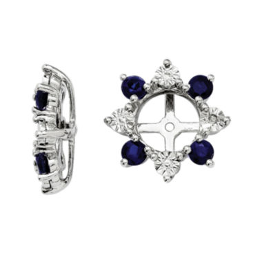 jcpenney.com | Lab-Created Sapphire and Diamond Accent Earring Jackets