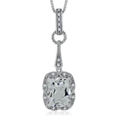 jcpenney.com | Lab-Created White Sapphire and Diamond Accent Sterling Silver Pendant Necklace