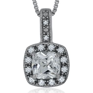 jcpenney.com | Diamond Accent & Lab-Created White Sapphire Sterling Silver Pendant Necklace