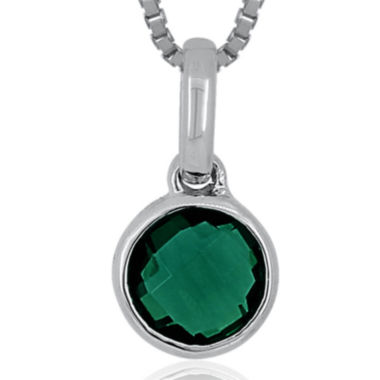jcpenney.com | Lab-Created Emerald Sterling Silver Pendant Necklace