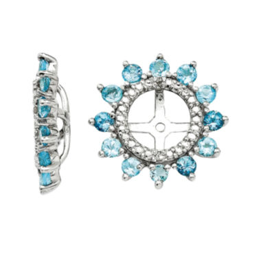 jcpenney.com | Diamond Accent & Simulated Swiss Blue Topaz Sterling Silver Earring Jackets