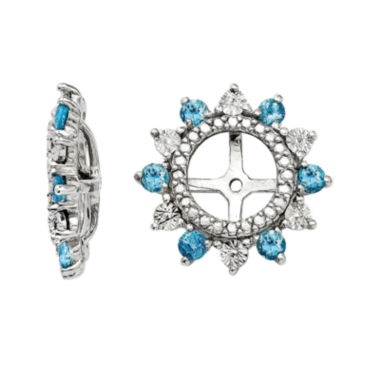 jcpenney.com | Simulated Swiss Blue Topaz Sterling Silver Earring Jackets