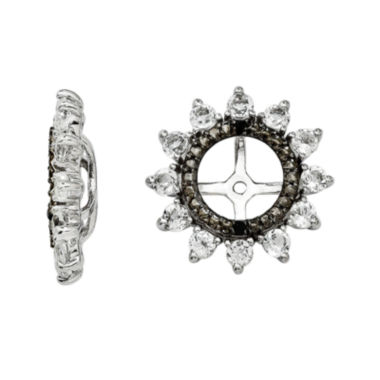 jcpenney.com | Genuine White Topaz & Black Sapphire Sterling Silver Earring Jackets