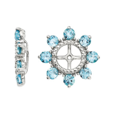 jcpenney.com | Genuine Swiss Blue Topaz and Diamond Accent Sterling Silver Earring Jackets
