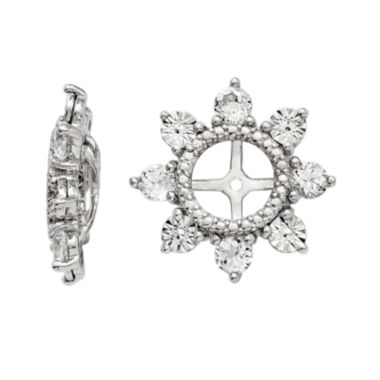 jcpenney.com | Genuine White Topaz Sterling Silver Earring Jackets