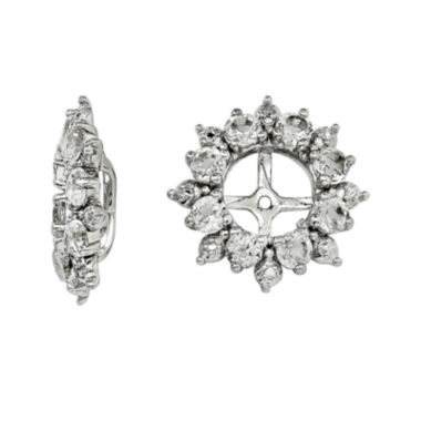 jcpenney.com | Genuine White Topaz and Diamond Accent Earring Jackets