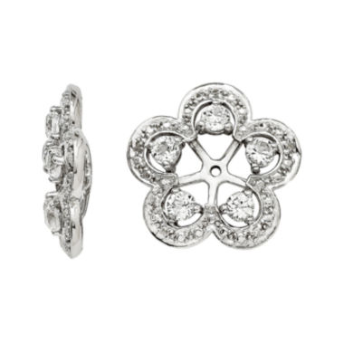 jcpenney.com | Diamond Accents & Simulated White Topaz Sterling Silver Earring Jackets