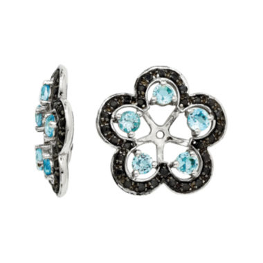 jcpenney.com | Heat-Treated Swiss Blue Topaz and Genuine Black Sapphire Earring Jackets