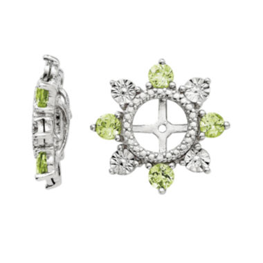 jcpenney.com | Genuine Peridot Sterling Silver Earring Jackets