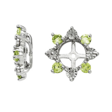 jcpenney.com | Diamond Accent & Genuine Peridot Sterling Silver Earring Jackets