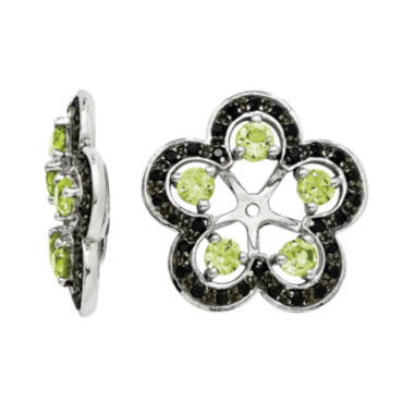 jcpenney.com | Genuine Peridot and Black Sapphire Sterling Silver Earring Jackets