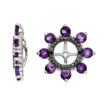jcpenney.com | Genuine Amethyst & Black Sapphire Sterling Silver Earring Jackets