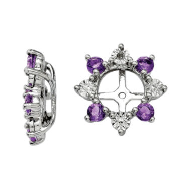 jcpenney.com | Diamond Accent & Genuine Amethyst Sterling Silver Earring Jackets