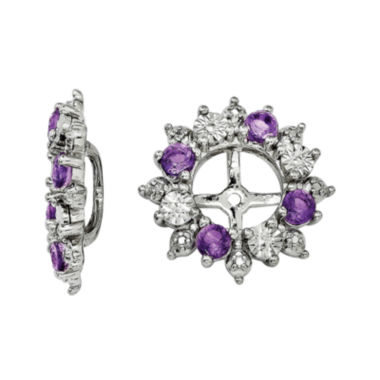 jcpenney.com | Genuine Amethyst Sterling Silver Earring Jackets