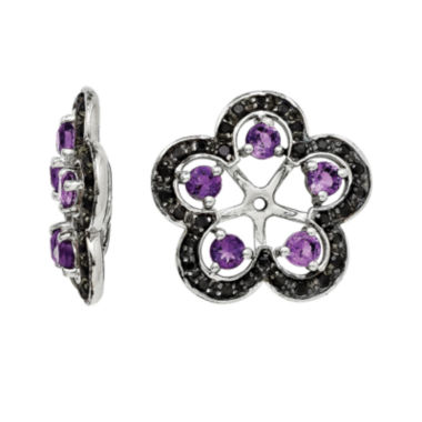 jcpenney.com | Heat-Treated Amethyst and Genuine Black Sapphire Earring Jackets