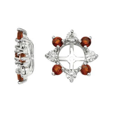 jcpenney.com | Diamond Accent & Genuine Garnet Sterling Silver Earring Jackets