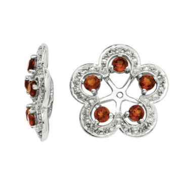 jcpenney.com | Genuine Garnet and Diamond Accent Sterling Silver Earring Jackets