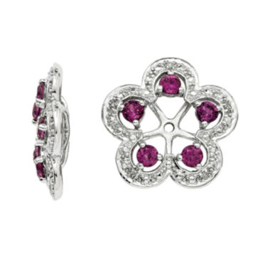 jcpenney.com | Genuine Purple Rhodolite Garnet and Diamond Accent Earring Jackets