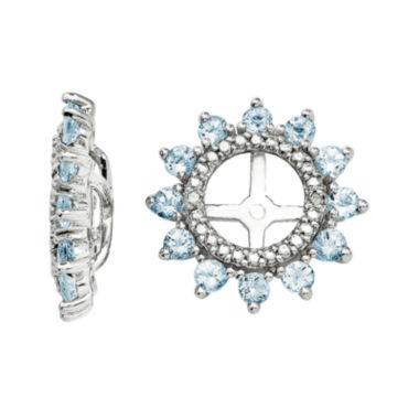 jcpenney.com | Diamond Accent & Genuine Aquamarine Sterling Silver Earring Jackets