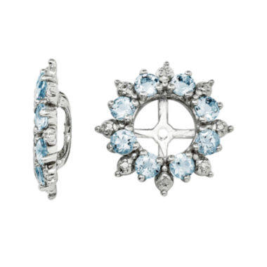 jcpenney.com | Genuine Aquamarine and Diamond Accent Earring Jackets
