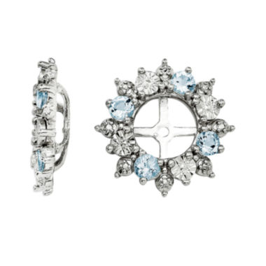 jcpenney.com | Genuine Aquamarine Sterling Silver Earring Jackets