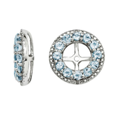 jcpenney.com | Genuine Aquamarine and Diamond Accent Sterling Silver Earring Jackets