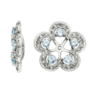 jcpenney.com | Diamond Accent and Heat-Treated Aquamarine Sterling Silver Earring Jackets