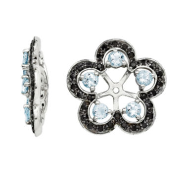 jcpenney.com | Heat-Treated Aquamarine and Genuine Black Sapphire Earring Jackets