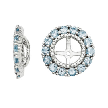 jcpenney.com | Diamond Accent and Heat-Treated Aquamarine Earring Jackets