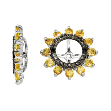 jcpenney.com | Genuine Citrine and Black Sapphire Sterling Silver Earring Jackets
