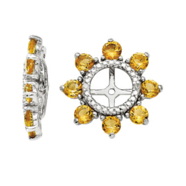 jcpenney.com | Diamond Accent & Genuine Citrine Sterling Silver Earring Jackets