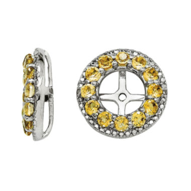 jcpenney.com | Genuine Citrine and Diamond Accent Sterling Silver Earring Jackets
