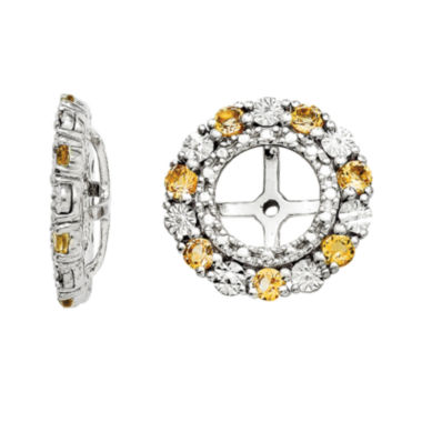 jcpenney.com | Genuine Citrine Sterling Silver Earring Jackets