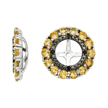 jcpenney.com | Genuine Citrine & Lab-Created Black Sapphire Sterling Silver Earring Jackets