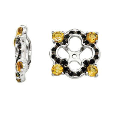 jcpenney.com | Genuine Citrine & Black Sapphire Sterling Silver Earring Jackets