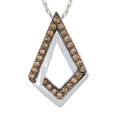 jcpenney.com | 1/7 CT. T.W. Champagne Diamond Sterling Silver Pendant Necklace