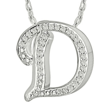 jcpenney.com | 1/7 CT. T.W. Diamond Sterling Silver Initial D Pendant Necklace