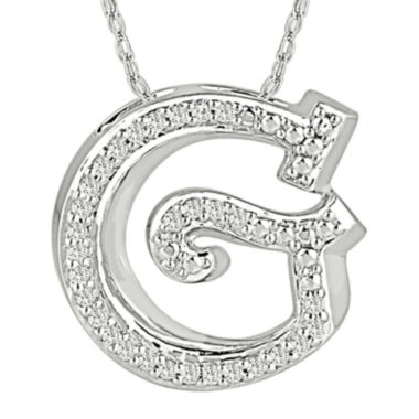 jcpenney.com | 1/7 CT. T.W. Diamond Sterling Silver Initial G Pendant Necklace