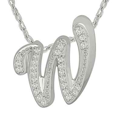 jcpenney.com | 1/7 C.T. TW. Diamond Sterling Silver W Pendant