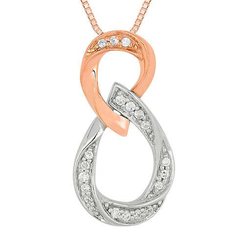1/8 CT. T.W. Diamond Loop Pendant Necklace