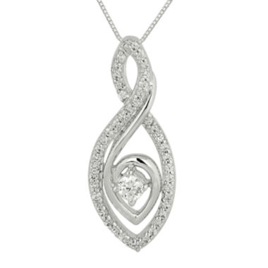jcpenney.com | 1/3 CT. T.W. Diamond Loop Pendant Necklace