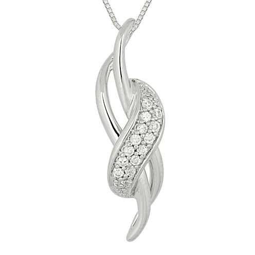 1/9 CT. T.W. Diamond Loop Pendant Necklace