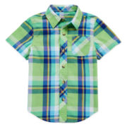 Arizona Short-Sleeve Plaid Woven Shirt - Toddler Boys 2t-5t