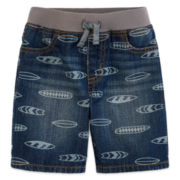 Arizona Pull-On Denim Shorts - Toddler Boys 2t-5t