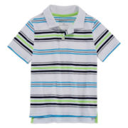 Arizona Short-Sleeve Stripe Polo - Preschool Boys 4-7