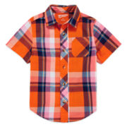 Arizona Short-Sleeve Woven Camp Shirt - Preschool Boys 4-7