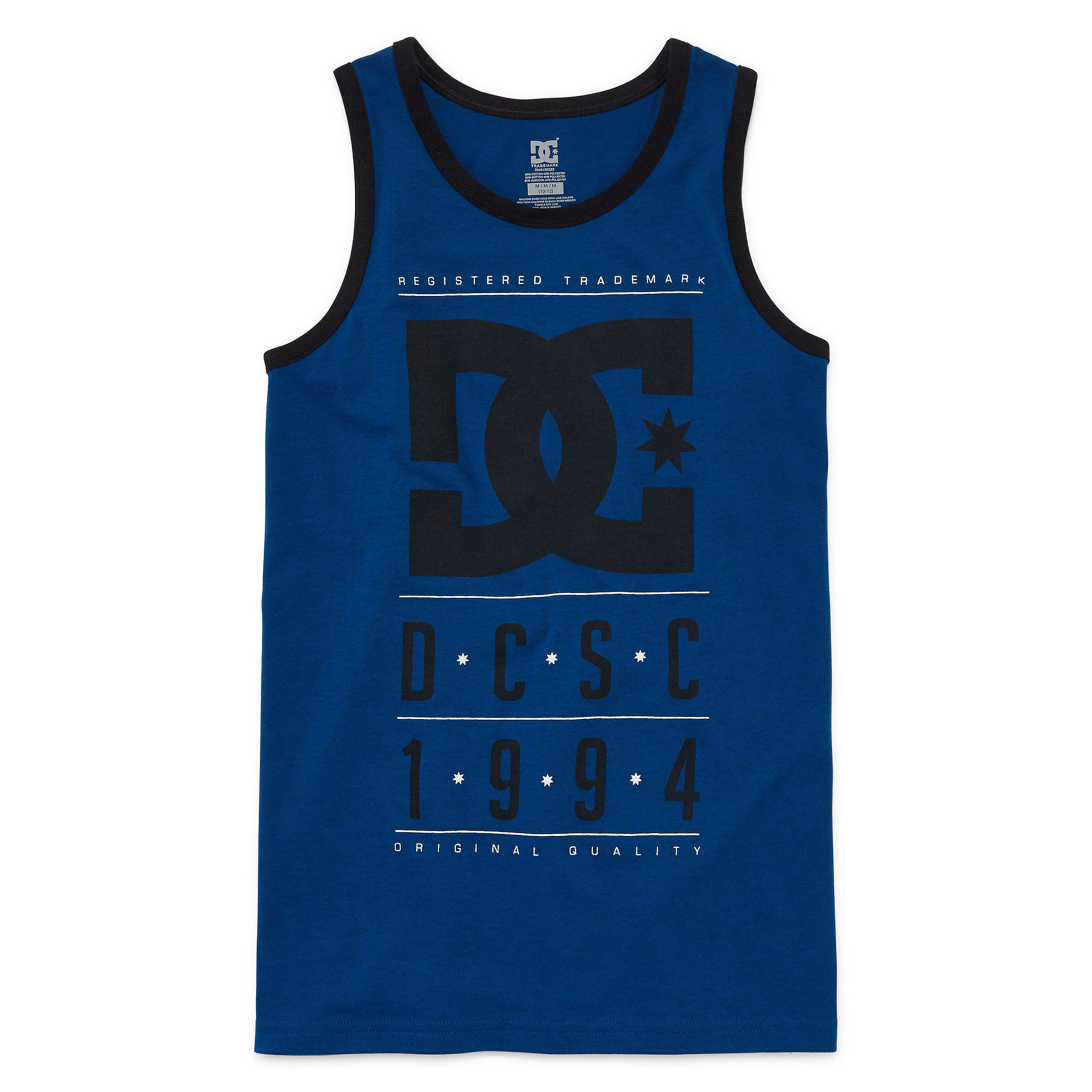 DC Shoes Co. Line Up Graphic Cotton Tank Top - Boys 8-20