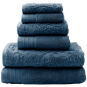 Pacific Coast Textiles™ Leaf Swirl Jacquard 6-pc. Bath Towel Set