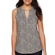 Liz Claiborne® Split-Neck Tank Top