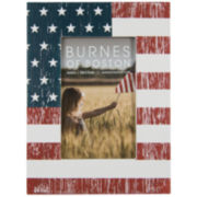 "American Flag 4x6"" Wooden Picture Frame"